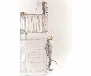 Adrien, black cat, and Chat Noir image