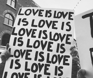 love and love is love image
