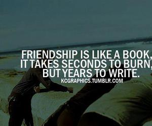 friendship, book, and burn image