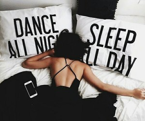 sleep, dance, and black image