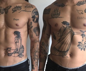 tattoo, boy, and body image