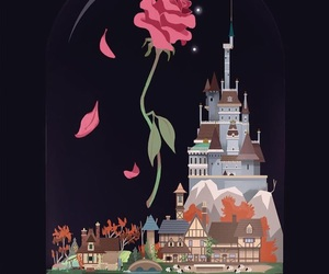 background, beauty and the beast, and wallpaper image