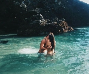 couple, love, and summer image