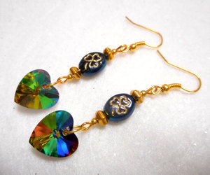 etsy, heart jewelry, and dangle earrings image