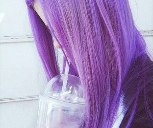 purple, hair, and tumblr image