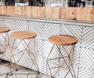 bar, stools, and decor image