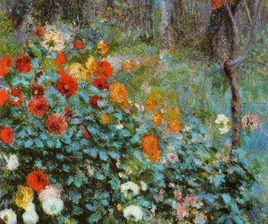 art, Renoir, and flowers image