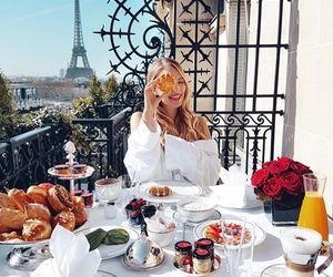 paris, breakfast, and travel image