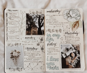 bullet journal, journal, and art image