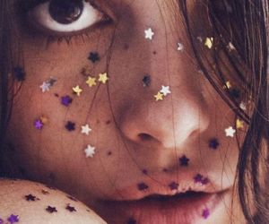 stars, girl, and glitter image