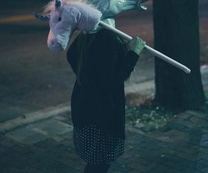unicorn, grunge, and horse image