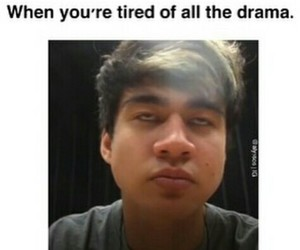 drama, face, and funny image