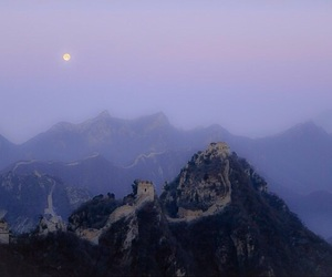grunge, moon, and sky image