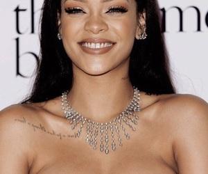 rihanna, smile, and makeup image