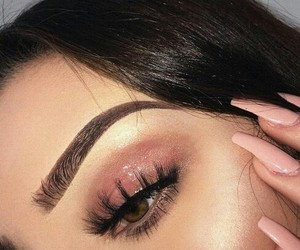 beautiful, brown eyes, and eyebrows image