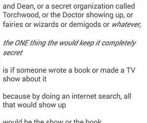books, dean, and doctor who image