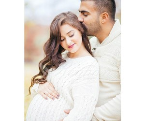 beauty, family, and kiss image