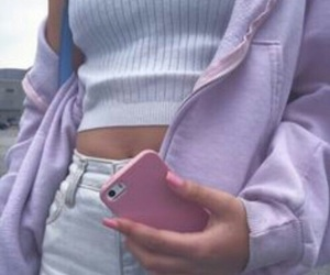 pink, purple, and iphone image