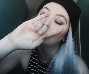 makeup, myself, and greyhair image