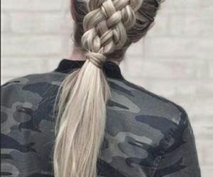 braid, hair, and long image