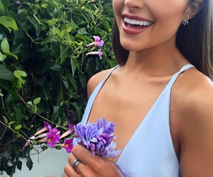 flowers, makeup, and smile image