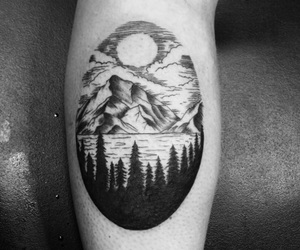 inked, mountain, and tattoo image