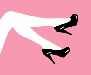 art, heels, and pink image