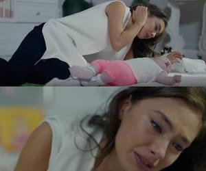 baby, cry, and sad image