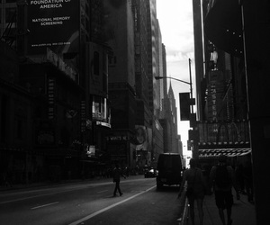 black and white, city, and tumblr image