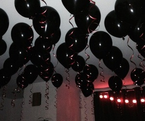 alternative, black, and balloons image