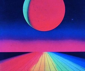 rainbow, aesthetic, and vaporwave image