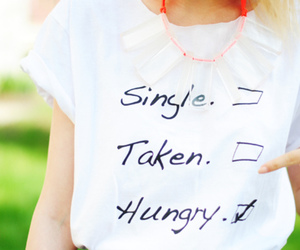 fashion, hungry, and single image