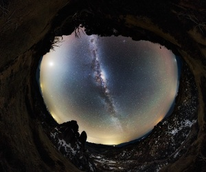 cosmos, night, and earth image