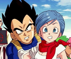 couple, bulma, and vegeta image