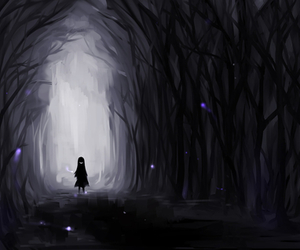 anime, wallpaper, and dark image