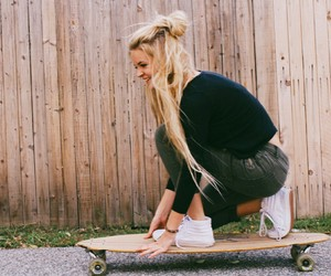 girl, skate, and blind image