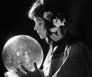 crystal ball and vintage image