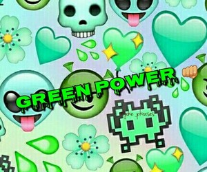 green, alien, and emoji image