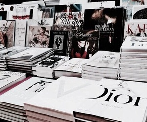 book, dior, and magazine image