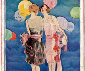 altered art, fashion plate, and art deco image