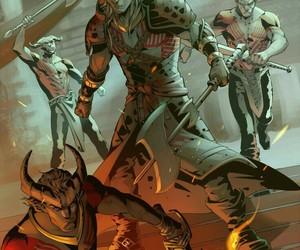 qunari, dragon age, and dragon age : origins image