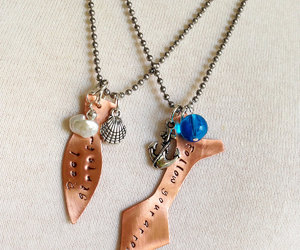etsy, rustic copper, and anchor necklace image