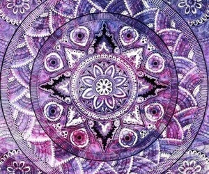 purple, mandala, and wallpaper image