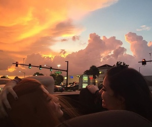 lesbian, sunset, and love image