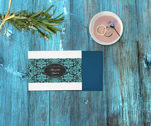 invitations, spring wedding, and save the date card image