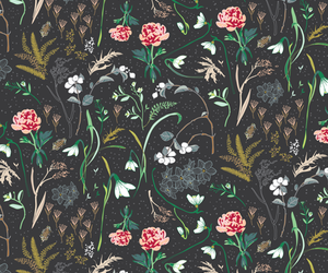 background, enchanted, and floral image