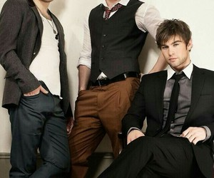 Chace Crawford, chuck bass, and gossip girl image