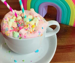 rainbow, tumblr, and unicorn image
