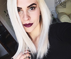 beautiful, dark lips, and eyebrows image