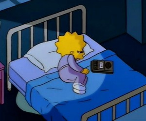 sad, the simpsons, and lisa simpson image